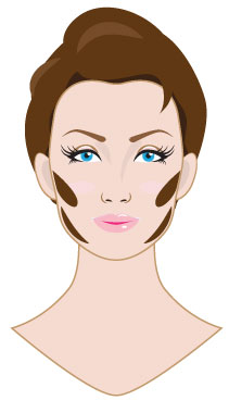 Contouring and Highlighting sculpted cheekbones