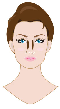 Contouring and Highlighting Slim your nose