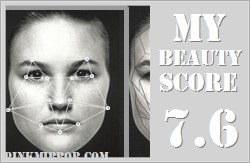 beauty score for Attractive face
