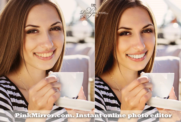 virtual makeover teeth whitening portrait retouch