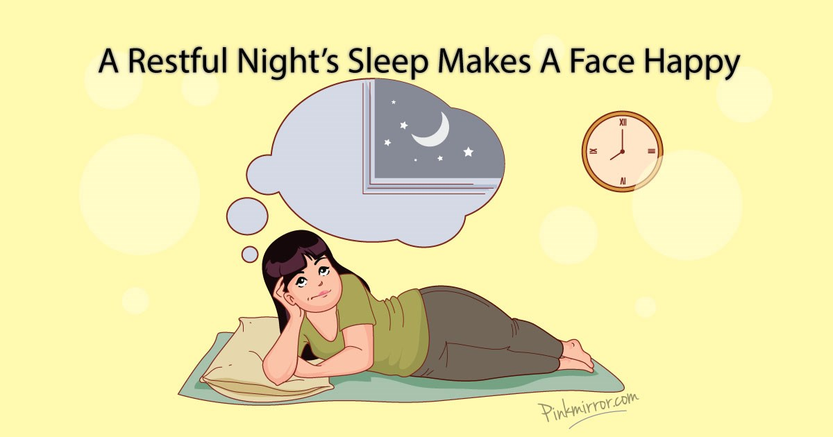 A restful night sleep makes a face happy