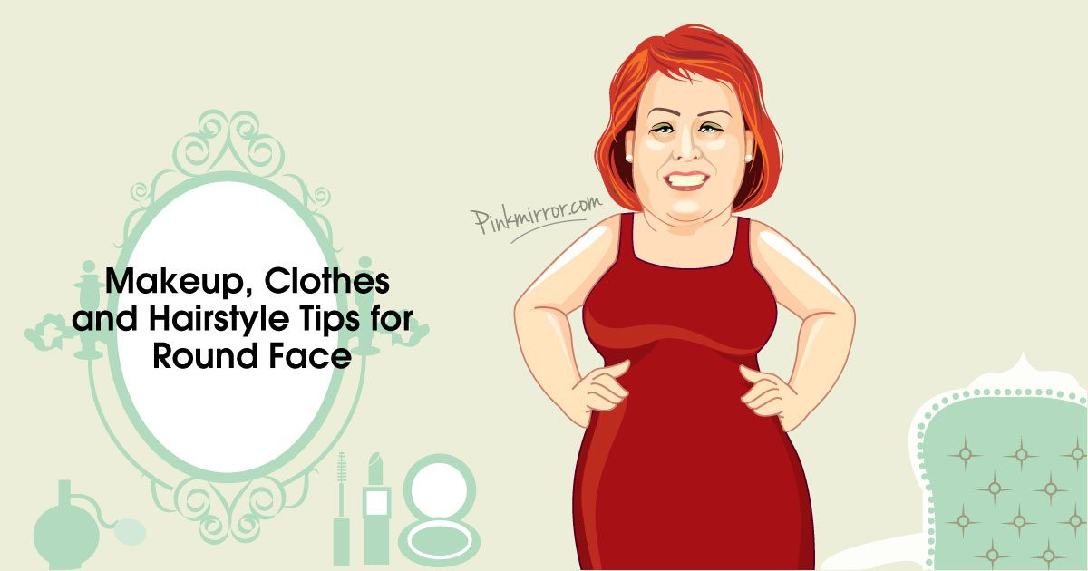 Makeup Clothes And Hairstyle Tips For A Mature Round Face