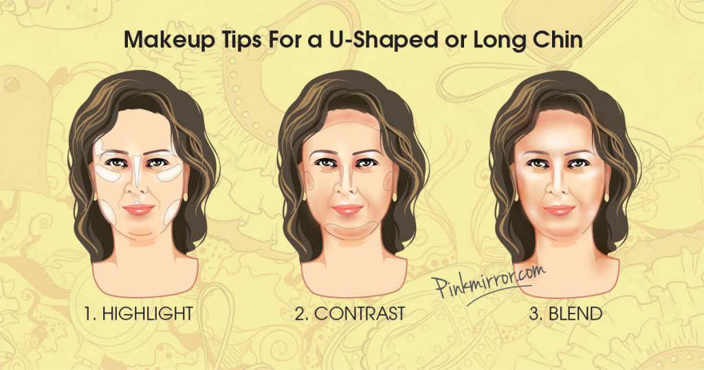 Makeup Tips For a U-Shaped or Long Chin