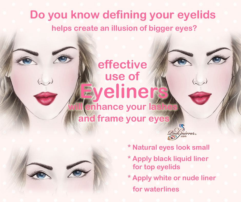 makeup tip eyes look larger with eyelid eyeliner