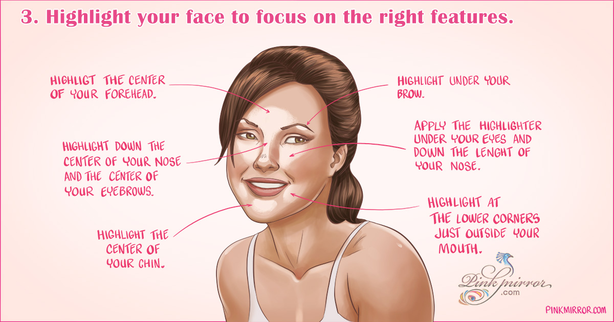 Highlight your face to focus on the right features and hide facial fat