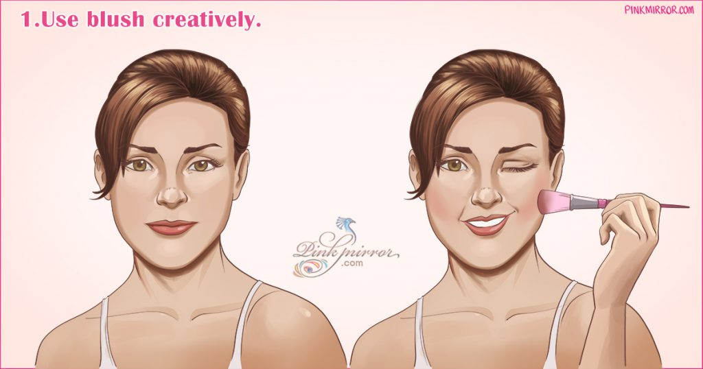 Use blush creatively