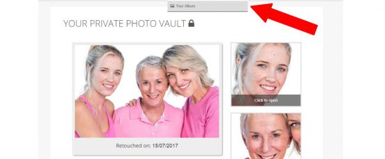 Your Album in PinkMirror. Fast, Fun, Easy, and Convenient way to store your retouched photos.