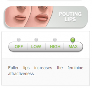 pouting lips option